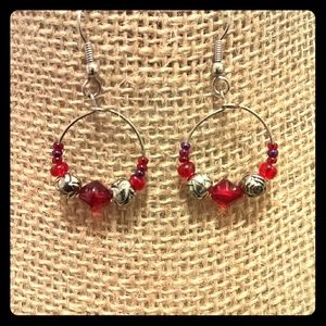 Jewelry - Red hoops